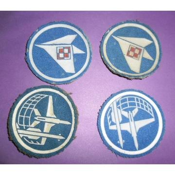 4 x Naszywki wojskowe.Samoloty.Lotnictwo