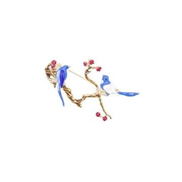 Broszka ozdobna ptaki