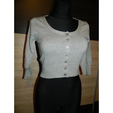 ICHI krótkie bolerko sweterek roz XS