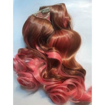 Włosy długie doczepiane 2 taśmy gęste  loki  pasma