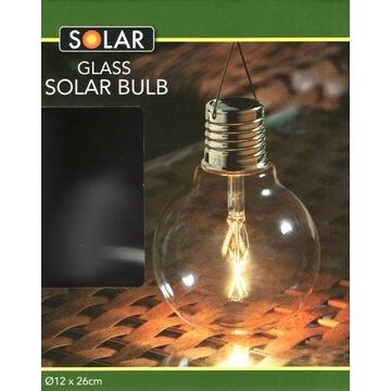 Lampa Solarna Żarówka Szklana LED podwieszana Nowa