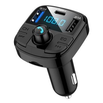 Transmiter FM bluetooth 5.0 QC 3.0 + USB-C PD