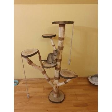 Drapak dla kota z naturalnego drewna