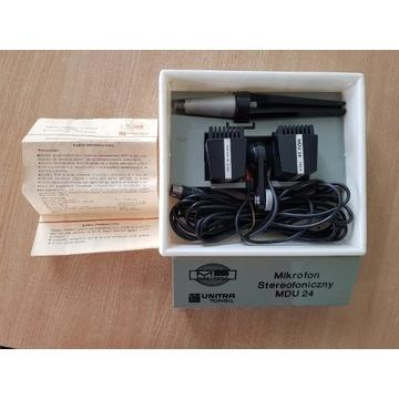 Mikrofon stereofoniczny MDU 24 PRL UNITRA TONSIL