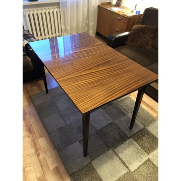 Stół drewniany mahoń barwiony rozkładany 120x75 cm