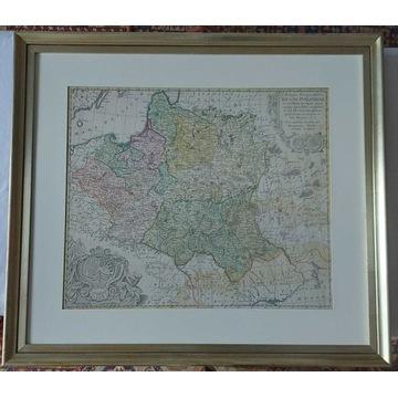 Mapa Polski XVIII w.