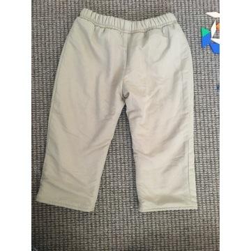 zimowe spodnie ocieplane r.80