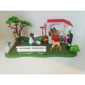 Playmobil zestaw country konie figurki wybieg boks