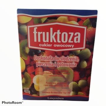 Fruktoza cukier owocowy, 400g wyprzedaż!