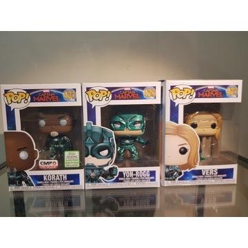Marvel Funko Pop (Vers, Korath, Yon-Rogg)