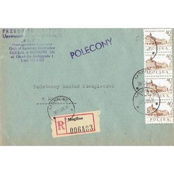 Mogilno - Koperty listów poleconych 1960-80