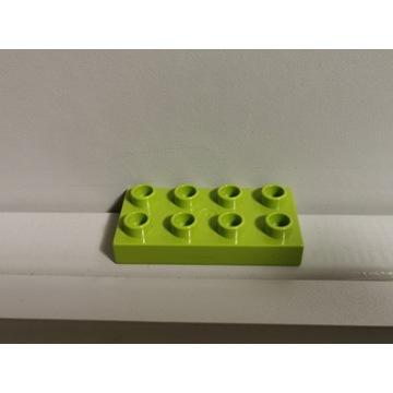 LEGO DUPLO klocek płaski zielony oliwkowy 2x4