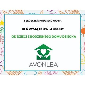 Dyplom dla Wyjątkowej Osoby Avonlea Dom Dziecka