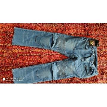 Spodnie motocyklowe jeans xl nowe męskie