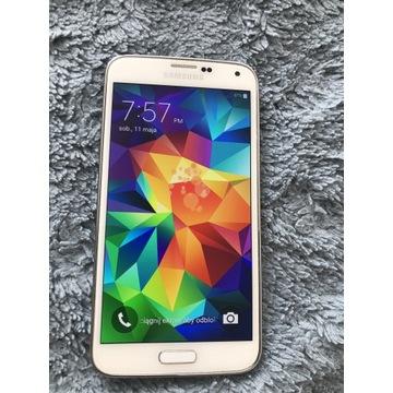 Telefon Samsung Galaxy S-5 , stan idealny, biały.