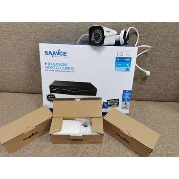 Zestaw monitoringu sannce 4 kamery POE 1080p +1TB