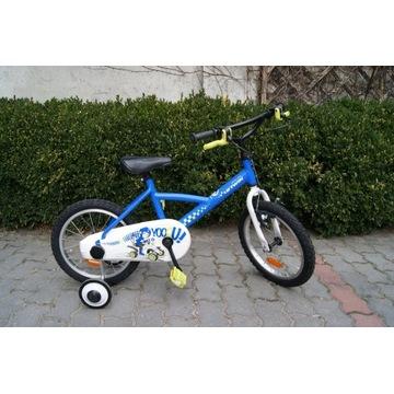 """Rower dziecięcy B'Twin 16"""" koła+kółka boczne"""
