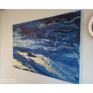 Obraz na płótnie, malowany ręcznie,akryl