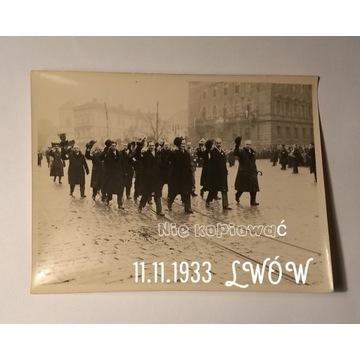 Lwów Obchody 11 listopad 1933  Oryginał