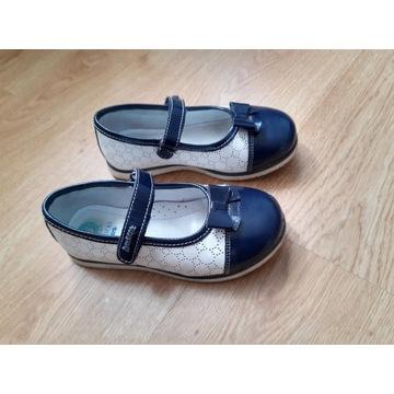 Buty baleriny dziewczęce skórzane Lasocki r.29