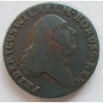 PRUSY POŁUDNIOWE trojak 1797 B, Wrocław. Stan 3+