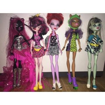 Monster High cała kolekcja 9 sztuk + Unikat