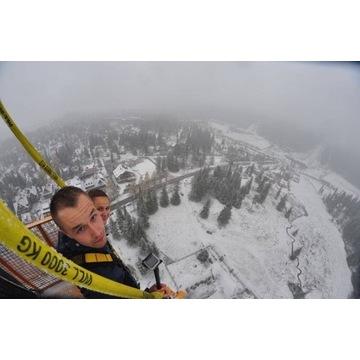 Skok na bungee dla dwojga z filmem i zdj w Zakopan