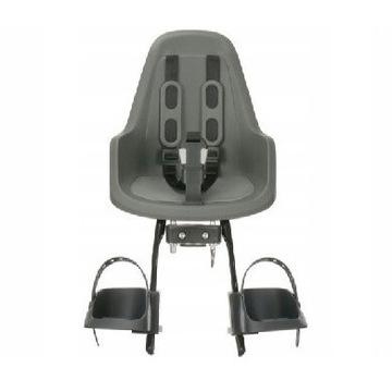 Fotelik rowerowy przedni Bobike Mini One szary