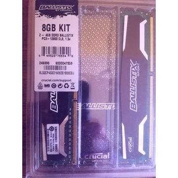 DDR3 2x4GB Crucial Ballistix 1600mhz CL9