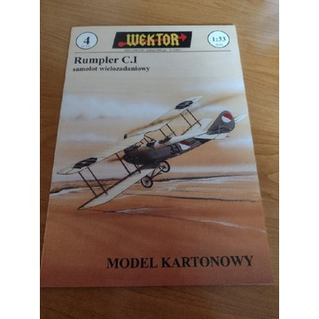 Model kartonowy Wektor Rumpler C I