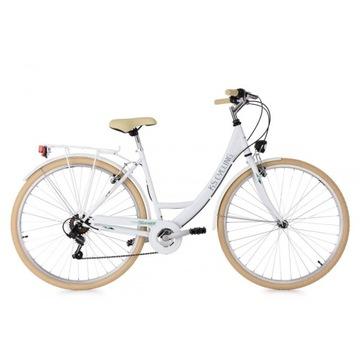 Damski Rower Miejski 28 Damka 6 Biegów Światła