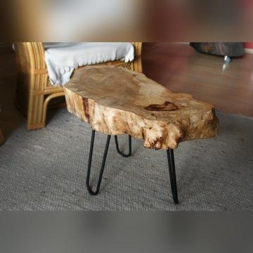 Stolik kawowy drewniany - z plastra drzewa