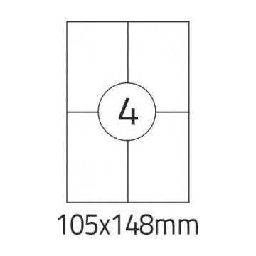 Etykiety samoprzylepne 105 x 148.5 10 x 100