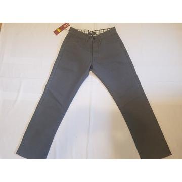 Spodnie Stavros EMB  Regular fit jeans light grey