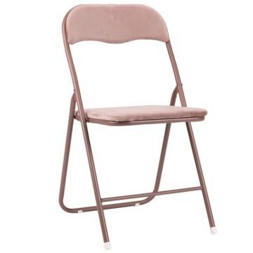 Krzesła składane z aksamitu