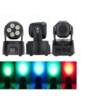 Głowice  Lixada Stroboskopy 5x15W LED RGBW 3szt