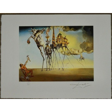 Salvador Dali  Temptation St. Anthony 50x65 sygn