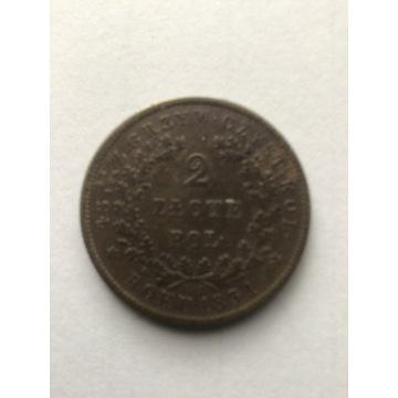 2 złote polskie z 1831 roku