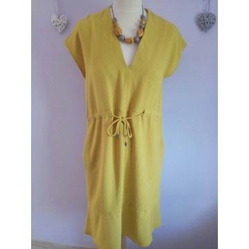 Nowa musztardowa sukienka NEXT rozmiar 40