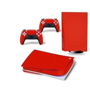 skin naklejka Playstation 5 Bluray Czerwona