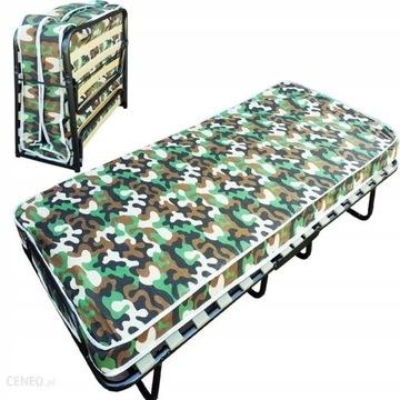 Łóżko turystyczne składane z materacem