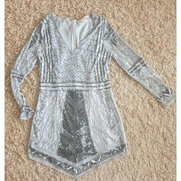 Niespotykana, wyjątkowo zdobniona sukienka/42 XL