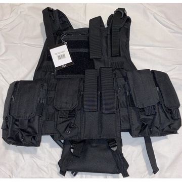 Kamizelka taktyczna Ranger MFH z bukłakiem czarna