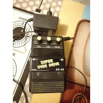 Efekt gitarowy KODA KD-26 Super Overdrive zasilacz