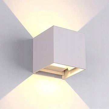 Lampa zewnętrzna wodoodporna biała 9x9 cm