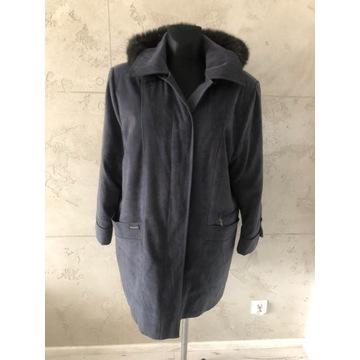 Płaszcz kurtka ocieplana narzutka XL kożuszek