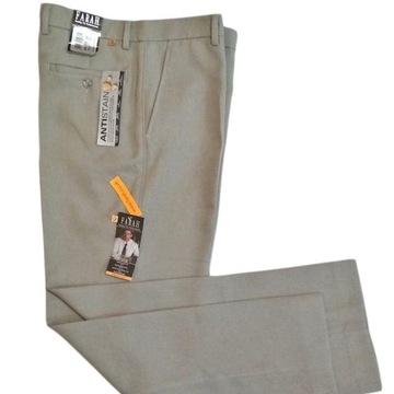 Farah klasyczne spodnie męskie taupe 36x31 NOWE