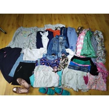 Paka ubrań wiosna lato 140 146