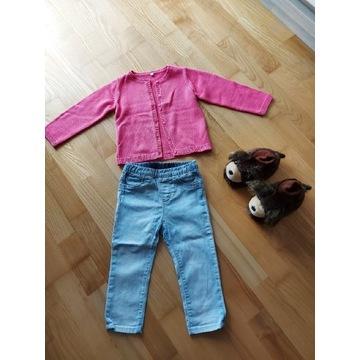 Zestaw ubranek dla dziewczynki r 80-86