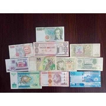 zestaw 3 banknotów